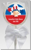 Fourth Of July Little Firecracker - Personalized Baby Shower Lollipop Favors