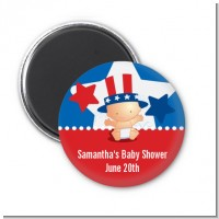 Fourth Of July Little Firecracker - Personalized Baby Shower Magnet Favors