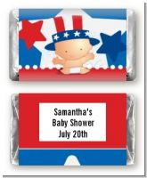 Fourth Of July Little Firecracker - Personalized Baby Shower Mini Candy Bar Wrappers