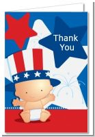 Fourth Of July Little Firecracker - Baby Shower Thank You Cards