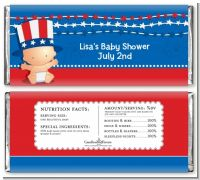 Fourth Of July Stars & Stripes - Personalized Baby Shower Candy Bar Wrappers