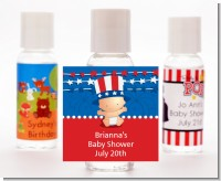 Fourth Of July Stars & Stripes - Personalized Baby Shower Hand Sanitizers Favors