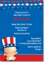 Fourth Of July Stars & Stripes - Baby Shower Invitations