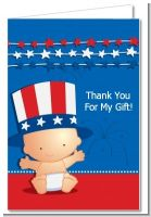 Fourth Of July Stars & Stripes - Baby Shower Thank You Cards