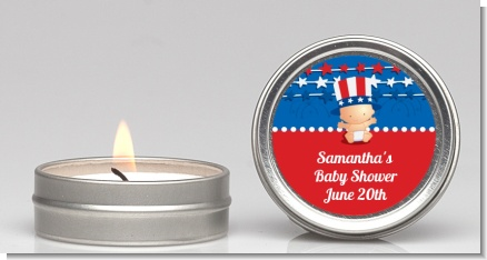 Fourth Of July Stars & Stripes - Baby Shower Candle Favors