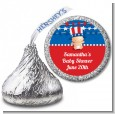 Fourth Of July Stars & Stripes - Hershey Kiss Baby Shower Sticker Labels thumbnail