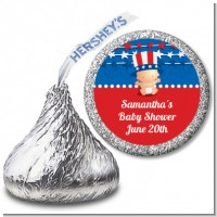 Fourth Of July Stars & Stripes - Hershey Kiss Baby Shower Sticker Labels
