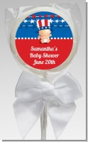 Fourth Of July Stars & Stripes - Personalized Baby Shower Lollipop Favors