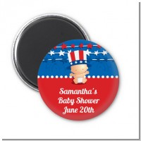 Fourth Of July Stars & Stripes - Personalized Baby Shower Magnet Favors