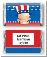 Fourth Of July Stars & Stripes - Personalized Baby Shower Mini Candy Bar Wrappers