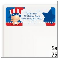 Fourth Of July Little Firecracker - Baby Shower Return Address Labels