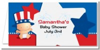 Fourth Of July Little Firecracker - Personalized Baby Shower Place Cards