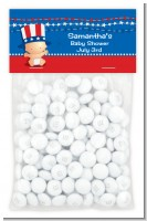 Fourth Of July Stars & Stripes - Custom Baby Shower Treat Bag Topper