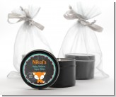 Fox and Friends - Baby Shower Black Candle Tin Favors