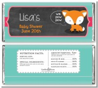 Fox and Friends - Personalized Baby Shower Candy Bar Wrappers