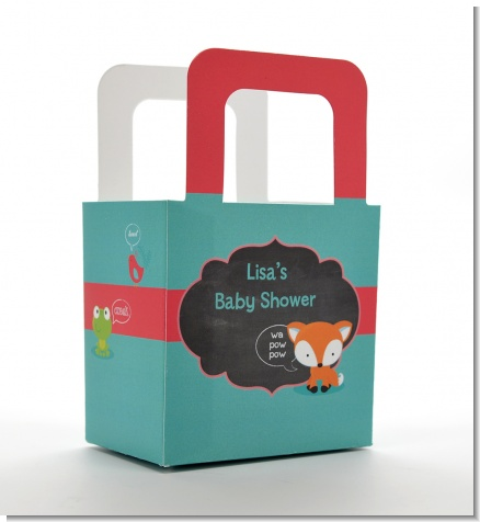 Fox and Friends - Personalized Baby Shower Favor Boxes