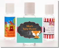 Fox and Friends - Personalized Baby Shower Hand Sanitizers Favors