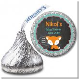 Fox and Friends - Hershey Kiss Baby Shower Sticker Labels