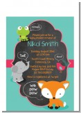 Fox and Friends - Baby Shower Petite Invitations
