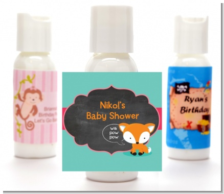 Fox and Friends - Personalized Baby Shower Lotion Favors