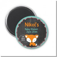 Fox and Friends - Personalized Baby Shower Magnet Favors