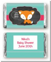 Fox and Friends - Personalized Baby Shower Mini Candy Bar Wrappers