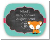 Fox and Friends - Personalized Baby Shower Rounded Corner Stickers
