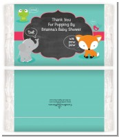 Fox and Friends - Personalized Popcorn Wrapper Baby Shower Favors