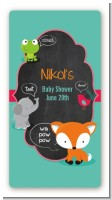 Fox and Friends - Custom Rectangle Baby Shower Sticker/Labels