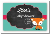 Fox and Friends - Baby Shower Landscape Sticker/Labels