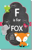 Fox and Friends - Personalized Baby Shower Nursery Wall Art