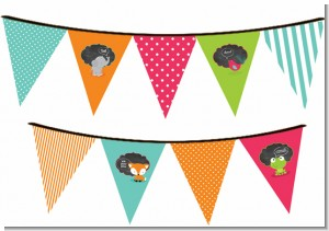 Fox and Friends - Baby Shower Themed Pennant Set