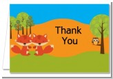 Forest Animals Twin Foxes - Baby Shower Thank You Cards