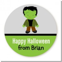 Frankenstein - Round Personalized Halloween Sticker Labels