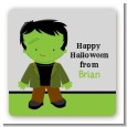Frankenstein - Square Personalized Halloween Sticker Labels thumbnail