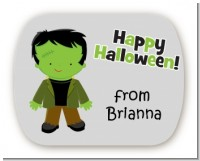 Frankenstein - Personalized Halloween Rounded Corner Stickers