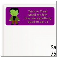 Frankenstein - Halloween Return Address Labels