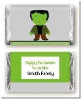 Frankenstein - Personalized Halloween Mini Candy Bar Wrappers