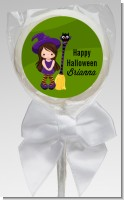 Friendly Witch Girl - Personalized Halloween Lollipop Favors