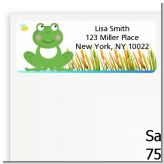 Froggy - Baby Shower Return Address Labels