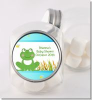 Froggy - Personalized Baby Shower Candy Jar