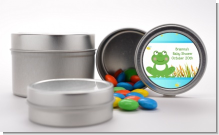Froggy - Custom Baby Shower Favor Tins