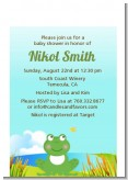 Froggy - Baby Shower Petite Invitations