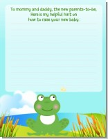 Froggy - Baby Shower Notes of Advice