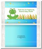 Froggy - Personalized Popcorn Wrapper Baby Shower Favors