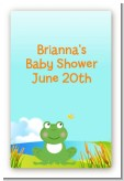 Froggy - Custom Large Rectangle Baby Shower Sticker/Labels