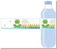Froggy - Personalized Baby Shower Water Bottle Labels