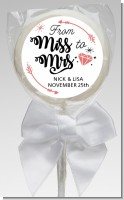From Miss To Mrs - Personalized Bridal Shower Lollipop Favors