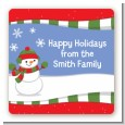 Frosty the Snowman - Square Personalized Christmas Sticker Labels thumbnail