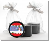 Frosty the Snowman - Christmas Black Candle Tin Favors